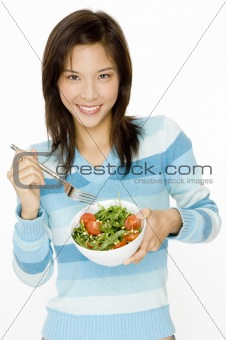 Eating Salad