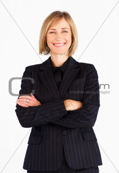 Portrait of businesswoman with crossed arms