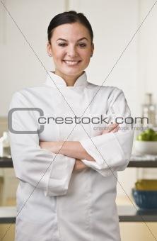 Attractive female chef.