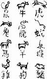 Primitive Chinese Zodiac Symbols