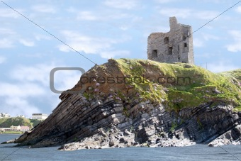 castle ruins on the cliff