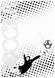 soccer dots poster background 6