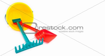 Classic bucket and shovel isolated