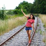 Walking on rails / railroad tracks