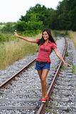 Walking on rails
