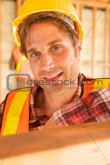 Close up of Construction Worker