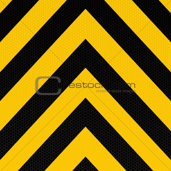arrow warning stripe