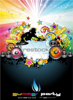Music Event Abstract Background