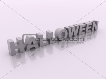 Gray halloween inscription on white