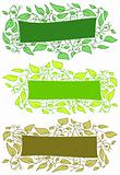 Banners with leaves
