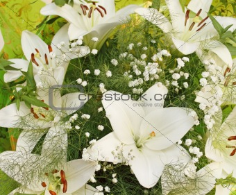 Bouquet with white lilies