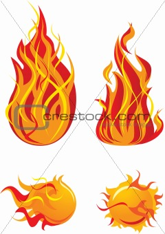 Flame elements