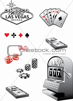 Casino elements set