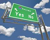 Freeway Sign - Decision - Yes or No