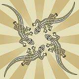 four lizards