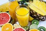 Juice fruits background
