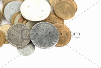 Close up of Different Coins
