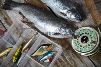 Collection of fly fishing