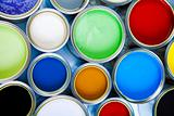 Colorful cans & paints