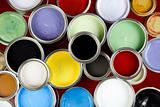 Paint cans and color image