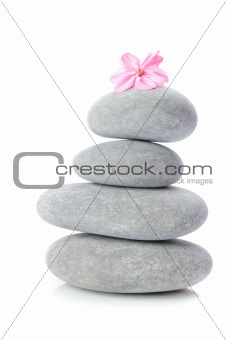 Massage gray stones