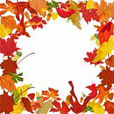 Vector autumn border