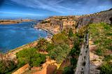Overlooking Valetta Bay in Malta