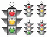 traffic lights set