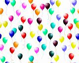 seamless colourful balloons with glare