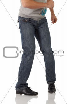 Single tap dancer