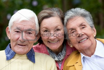 Old couple and their daughter
