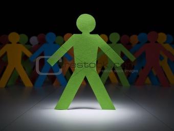 Green paper men
