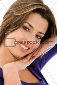 Casual woman portrait smiling