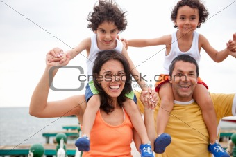 family having fun