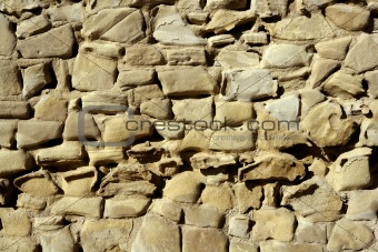 Aged stone walls, masonry in Spain