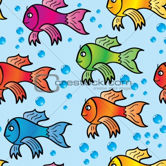 Abstract background of multicolor fishs.