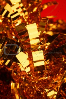 Abstract composition of christmas golden decoration