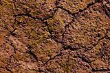 Dried cracked red clay natural soil