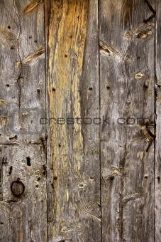 Aged old wood texture, ancient wooden door