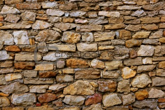 Masonry in Spain, old stone walls
