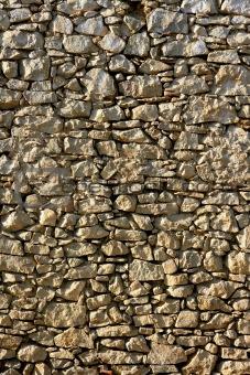 Masonry in Spain, old stone walls