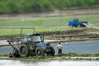 power tiller with truck