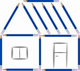 child house from pencils
