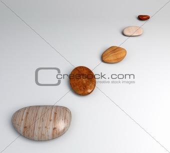 Top pebble wood