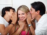 Friends gossiping