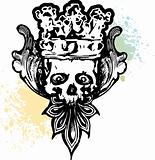 Crowned Wicked Skull