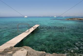 Formentera Mediterranean seascape turquoise sea