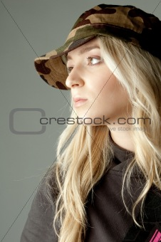 side face of young woman looking sideways