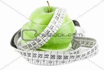 green sliced apple
