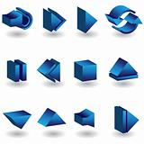 Media Player 3D Icon Set